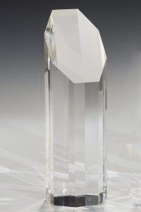 """Glastrophäe """"Artus Award"""" mit Lasergravur"""