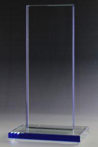 "Glastrophäe ""Brata Blau Award"" mit Glasgravur"