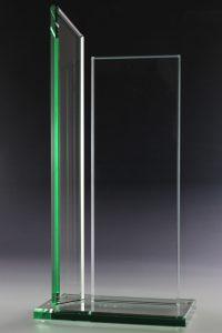 "Glaspokal ""Columna Gruen Award"" mit Glasgravur"