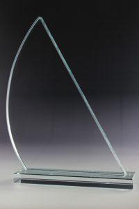"""Glaspokal """"Cuando Award"""" mit Glasgravur"""