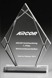 "Glaspokal ""Elements Peak Award"" mit Glasgravur"