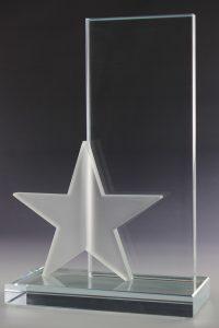 """Glaspokal """"Fuko Award"""" mit Glasgravur"""