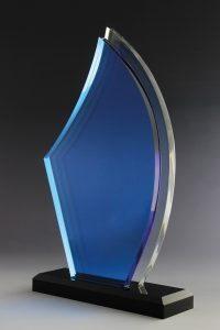 "Glaspokal ""Asa Award"" mit Glasgravur"