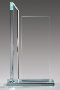 "Glaspokal ""Colum Award"" mit Lasergravur"