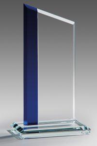 "Glastrophäe ""Exis Award"" mit Lasergravur"