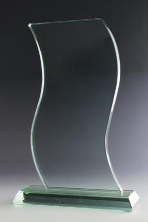 """Glastrophäe """"Impetus Award"""" mit Lasergravur"""