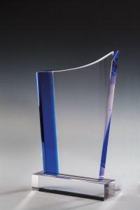 """Glastrophäe """"Inoa Award"""" mit Lasergravur"""