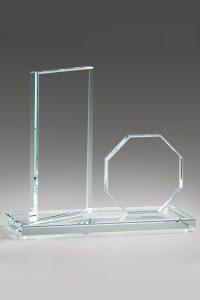 "Glastrophäe ""Jura Award"" mit Glasgravur"