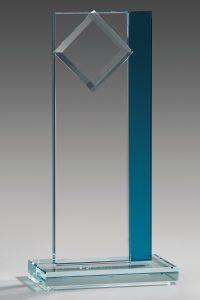 "Glastrophäe ""Kaira Award"" mit Glasgravur"