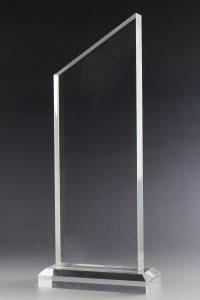 """Glastrophäe """"Krox Award"""" mit Glasgravur"""