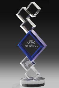 "Glastrophäe ""Leader Award"" mit Glasgravur"