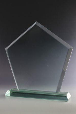 """Glastrophäe """"Leno Award"""" mit Glasgravur"""