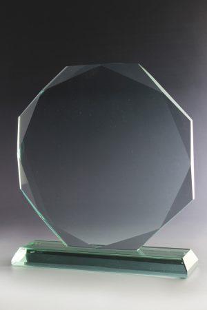 """Glastrophäe """"Mythos Award"""" mit Glasgravur"""