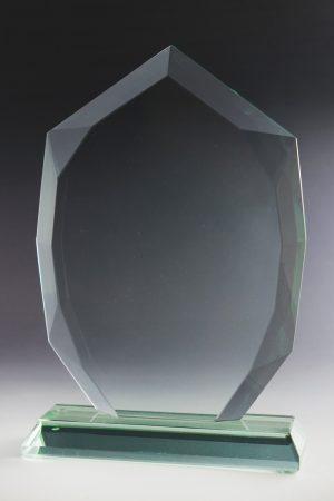"Glastrophäe ""Octa Award"" mit Glasgravur"