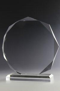"""Glastrophäe """"Orbis Award"""" mit Glasgravur"""