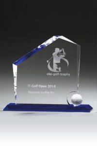 """Glaspokal """"Rock Award"""" mit Glasgravur"""
