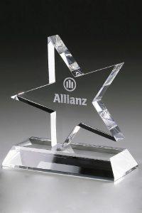 "Glaspokal ""Truculentus Award"" mit Lasergravur"
