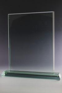 "Glastrophäe ""Turris Award"" mit Glasgravur"