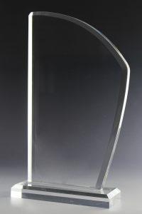 "Glaspokal ""Velum Award"" mit Glasgravur"