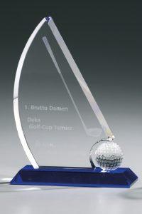 "Glaspokal ""Vexillum Award"" mit Glasgravur"