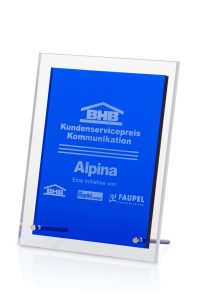 """Glaspokal """"Blackboard Award"""" mit Glasgravur"""