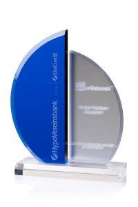 "Glaspokal ""Blue Sail Award"" mit Glasgravur"