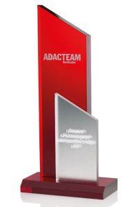 "Glaspokal ""Ignis Conlis Award"" mit Glasgravur"