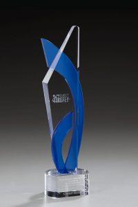 """Glaspokal """"Fantastic Award"""" mit Glasgravur"""