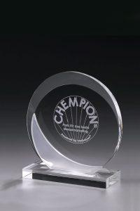 "Glaspokal ""Frozen Eclipse Award"" mit Glasgravur"