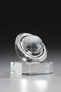 "Glaspokal ""Lapis Award"" mit Glasgravur"