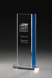 "Glaspokal ""Monument Award"" mit Glasgravur"