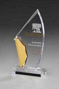 "Glaspokal ""Anancites Award"" mit Glasgravur"