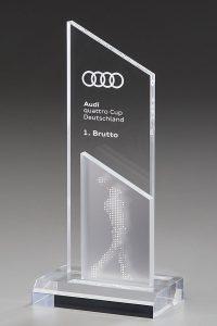 "Glastrophäe ""Aroa Award"" mit Glasgravur"