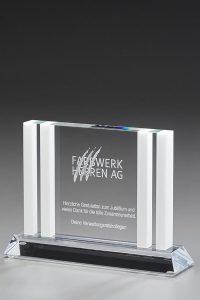 """Glaspokal """"Colosso Award"""" mit Glasgravur"""