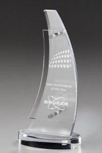 "Glaspokal ""Daiki Award"" mit Glasgravur"