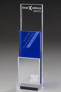"Glaspokal ""Tempus Award"" mit Glasgravur"