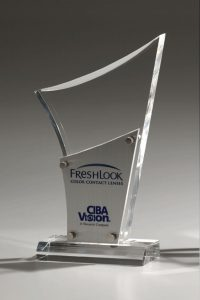 "Glaspokal ""Metallicus Drive Award"" mit Glasgravur"
