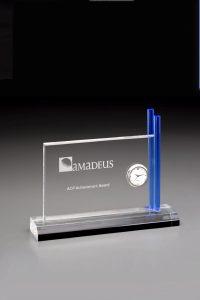 "Glaspokal ""Special Clock Award"" mit Lasergravur"
