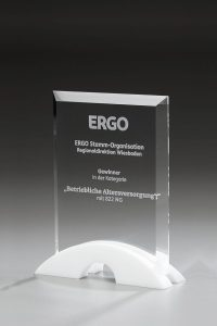 "Glaspokal ""Bridge Award"" mit Lasergravur"