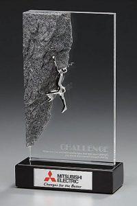 "Glaspokal ""Climber Award"" mit Lasergravur"