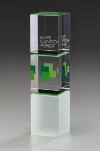 "Glaspokal ""Akira Award"" mit Lasergravur"