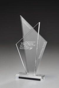"Glaspokal ""Atlas Award"" mit Lasergravur"