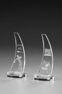 "Glaspokal ""Beko Award"" mit Lasergravur"