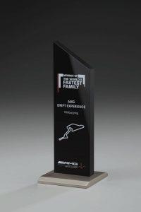 "Glaspokal ""Black Metal Award"" mit Lasergravur"