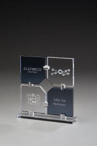 """Glaspokal """"Campis Award"""" mit Lasergravur"""