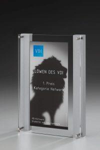 "Acrylglaspokal ""Lucus Channel Award"" mit Gravur"