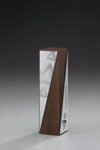 "Glaspokal ""Lumber Drill Award"" mit Lasergravur"