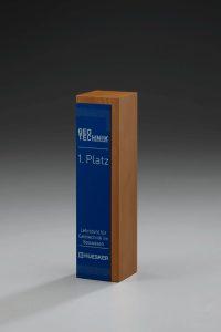 """Glaspokal """"Lumber Plate Award"""" mit Lasergravur"""