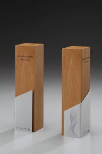 """Glaspokal """"Lumber Step Award"""" mit Lasergravur"""