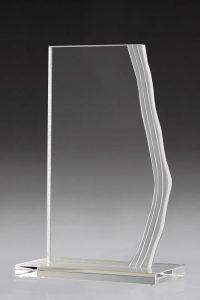"""Glaspokal """"Brik Award"""" mit Lasergravur online bestellen"""
